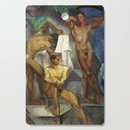 Young Bathers by George Pauli Nude Male Art Cutting Board