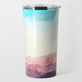 In the sea- abstract watercolor - Original triangle pattern Travel Mug
