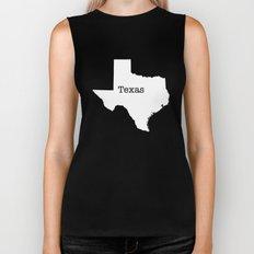 Texas State outline  Biker Tank