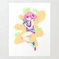 sparkles Art Prints featuring sparkles! by Jelena Haeschke