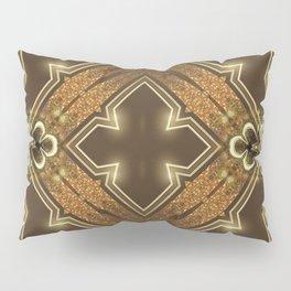 Golden Mali | Fractal Ruffles Pillow Sham