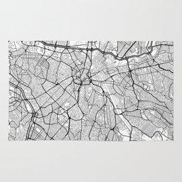 Sao Paulo Map White Rug