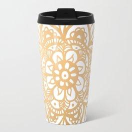Gold Mandala Travel Mug