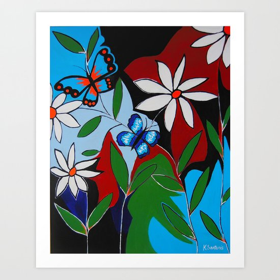 A Butterflies Paradise Art Print
