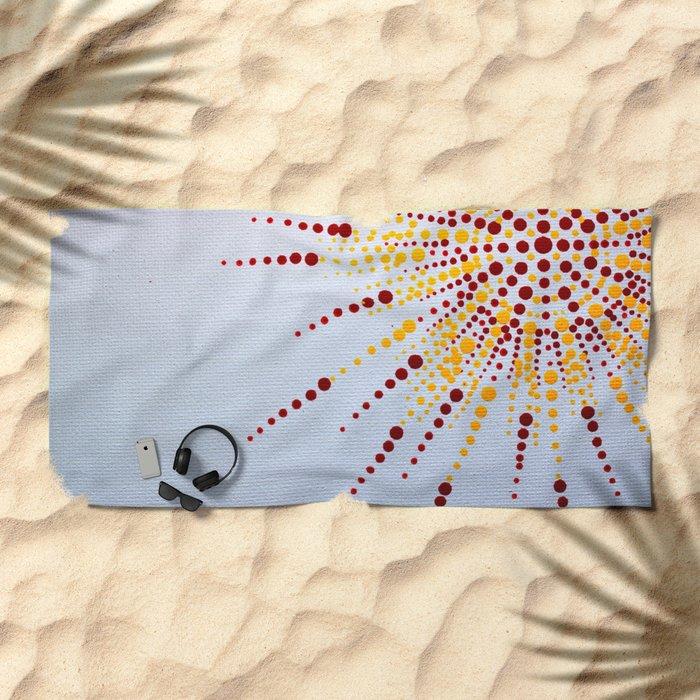 Burst Beach Towel