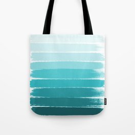 Sapote - painted abstract brushstrokes ombre blue colorful bright coastal decor dorm college Tote Bag