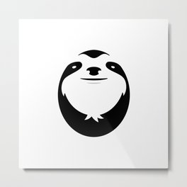 The Majestic Sloth Metal Print