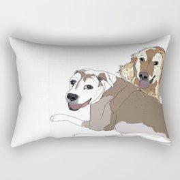 Family Dog Pack Rectangular Pillow