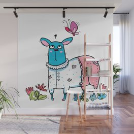 Blue Dog Hate Wall Mural
