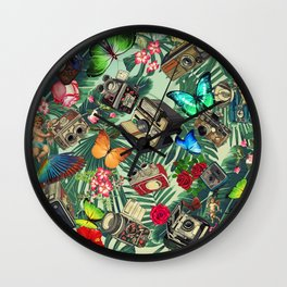 tropical vintage Wall Clock