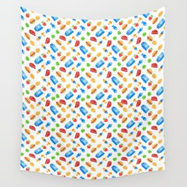 """""""Must eat now"""" grocery list (fun food pattern) Wall Tapestry"""