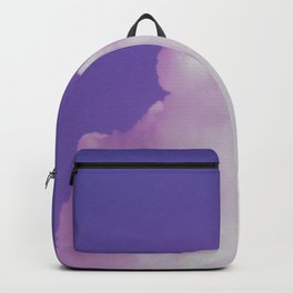 Big Fluffy Cloud Against a Purple Sky, Beautiful Cloud and Beautiful Sky Backpack
