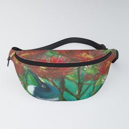 Tui in the Pohutukawa Fanny Pack