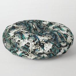 Teal Animal Print Pattern Floor Pillow