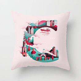 Wanderlust Alphabet – C is for Copenhagen Throw Pillow