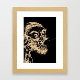 HIPSTER ZOMBIE PRINT -  He was a zombie before it was cool Framed Art Print