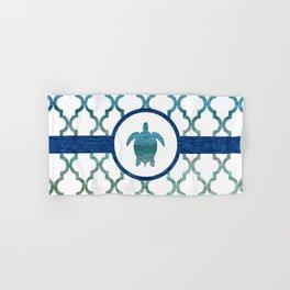 Turtle: Tropical Water Moroccan Pattern Hand & Bath Towel