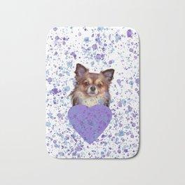 Watercolor Ultra Violet Splattering Dog Lovers Bath Mat