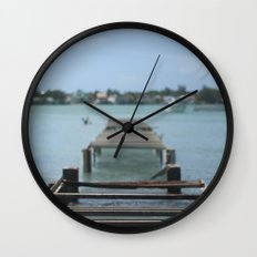 Turquoise Paradise Wall Clock