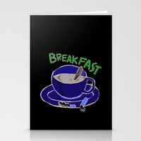 breakfast Stationery Cards featuring BREAKFAST by Gianluca Floris