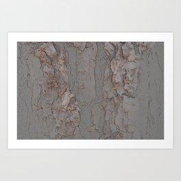 Charcoal drawing organic nature tree minimalism abstract giclee print Art Print