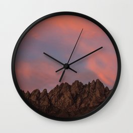 Sunset over the Organ Mountains Wall Clock