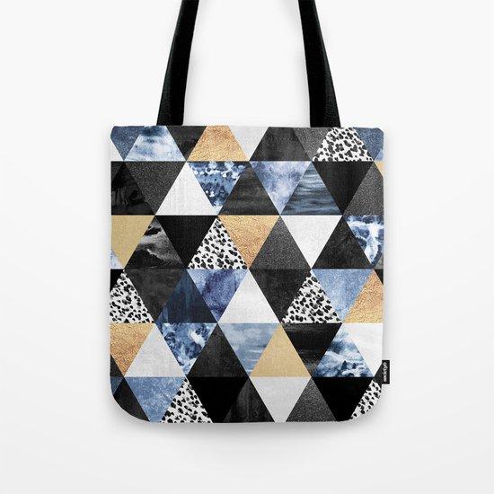 Blue Triangles Tote Bag