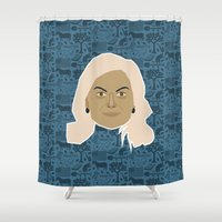 parks Shower Curtains featuring Leslie Knope - Parks and recreation by Kuki