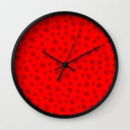 Canada Maple Leaf-Red Wall Clock