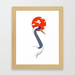 Japan Crane Framed Art Print