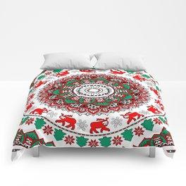 Mandala Christmas Sloth Comforters