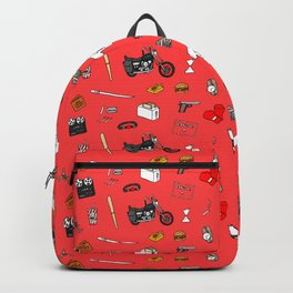 Pulp Fiction pattern Backpack