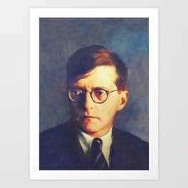 Dmitri Shostakovich, Music Legend Art Print