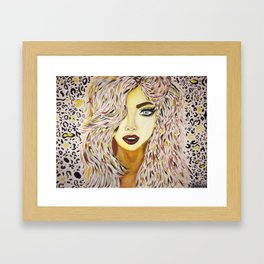 Leopard Girl Framed Art Print