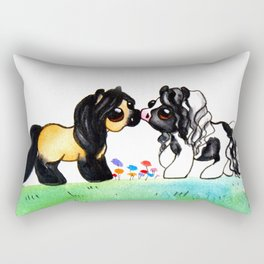 Ponies in Love Rectangular Pillow