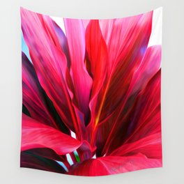 Red Ti Leaf Wall Tapestry