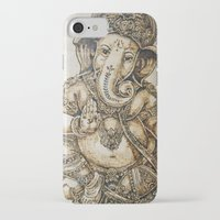 ganesh iPhone & iPod Cases featuring Ganesh by artbyolev