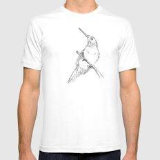 bird sketch MEDIUM Mens Fitted Tee White
