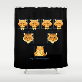 Genealogicat Shower Curtain