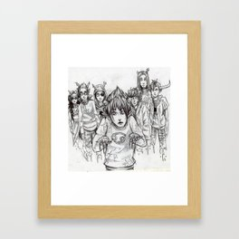 It's All on my Hands Framed Art Print