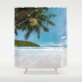 Tropical Palm Beach Shower Curtain