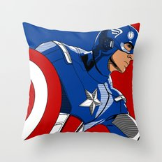 Captain 'merica Throw Pillow