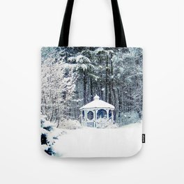 Snowy Gazebo Tote Bag