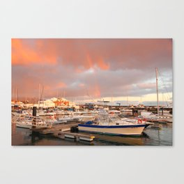 Marina in the Azores Canvas Print