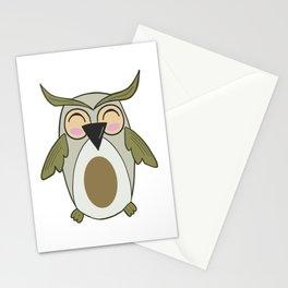 Owl - Nightbird Bird Nocturnal Stationery Cards