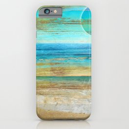 Turquoise Moon Day iPhone Case