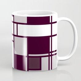 Neoplasticism symmetrical pattern in pinkish gray Coffee Mug