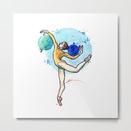 Polina I - Ballerina Drawing Metal Print