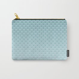 Sky-blue geometric pattern Carry-All Pouch