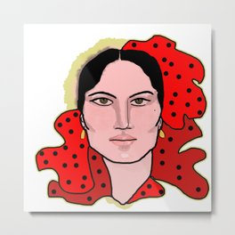 Spanish Flamenco Dancer Metal Print
